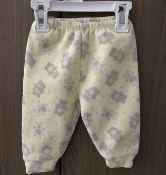 Pijama quentinho de Plush urso amarelo - 0 a 3 meses - Dedeka