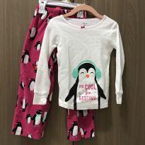 Pijama Plush pinguim - 4 anos - Carter`s
