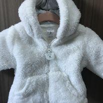Casaco branco quentinho de ursinho Carter's - 0 a 3 meses - Carter`s