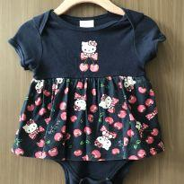 Vestido com body Hello Kitty