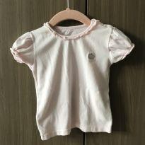 Camiseta rosa - 9 a 12 meses - Não informada