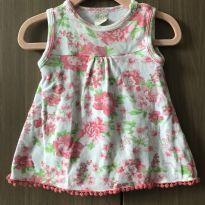 Vestidinho florido - 0 a 3 meses - Pingo Lelê