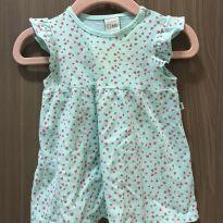 Vestido mini corações verde agua - 3 a 6 meses - Teddy Boom