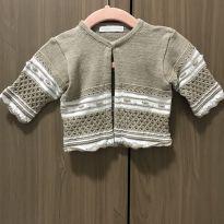 Casaco / casaquinho de tricô com brilhos - 0 a 3 meses - petit mouton