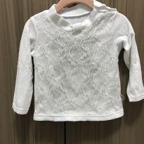 Blusa Branca de ursinho brilhante - 1 ano - Não informada