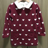 Vestido de corações bordo de linha - 18 a 24 meses - Young dimension