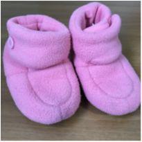 Pantufa rosa macia e quentinha - 23 - Dedeka