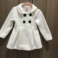 Casaco branco bem quentinho e estiloso - 2 anos - Serelepe