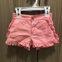 Short rosa salmão - 2 anos - Poim