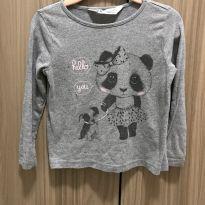 Camiseta / Blusa cinza ursinha - 18 a 24 meses - H&M