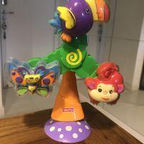 Brinquedo catavento de animais com ventosa Fischer Price