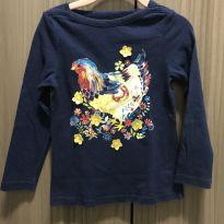 Camisa / blusa de galinha azul - 4 anos - Baby Gap