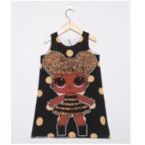 Vestido Lol Surprise Queen Bee preto - 6 anos - Não informada