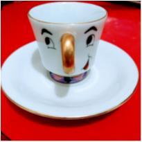 Xícara de café de porcelana do Zip - Bela e a Fera