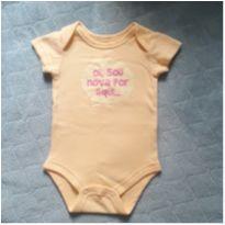 Body amarelo - 0 a 3 meses - Baby Club