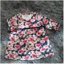 Vestido floral - 3 a 6 meses - Carinhoso