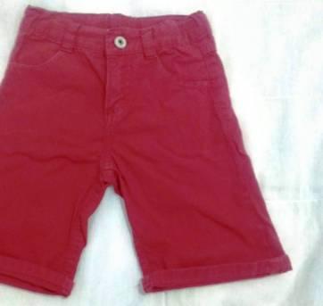 Bermuda sarja vermelha - 3 anos - Tex