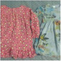 Dois vestidos manga longa - 18 meses - PUC e Outros