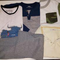 LOTE COM 5 PEÇAS 4 BLUSAS E 1 CALÇA - 4 anos - Baby Gap e Reserva mini