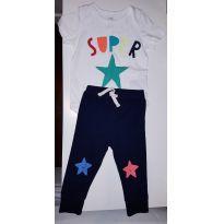 BABY GAP CONJUNTINHO LINDO SUPER STAR - 12 a 18 meses - Baby Gap