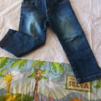calça Jeans com stress - 2 anos - Póim