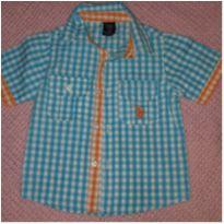 Camisa xadrez azul - 18 meses - US Polo Assn