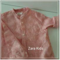 Blusa manga comprida de botões (035) - 2 anos - Zara Baby