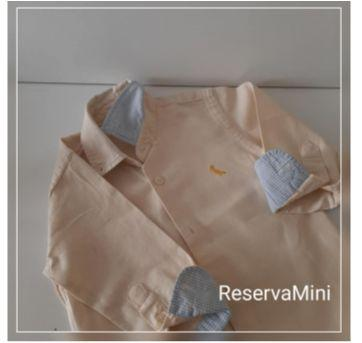 Blusa manga comprida de botões (036) - 3 anos - Reserva mini