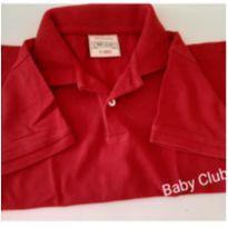 Blusa Polo vermelha (045) - 3 anos - Baby Club