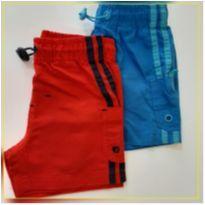 Kit 2 shorts Tactel - 9 a 12 meses - Teddy Boom