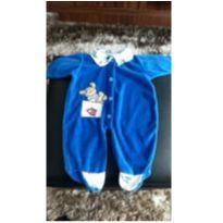 Macacão azul plush - 0 a 3 meses - Sof & Enz KIDS