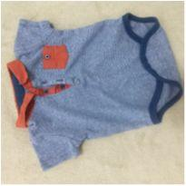 Body gola polo - 3 a 6 meses - Tip Top