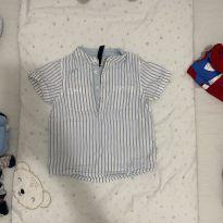 Camisa socialzinha listrada - 9 a 12 meses - ZY Baby
