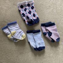 Lotinho de meias - 6 a 9 meses - Variadas
