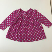 Blusa Pink quadriculada Tommy 3-6M - 3 a 6 meses - Tommy Hilfiger