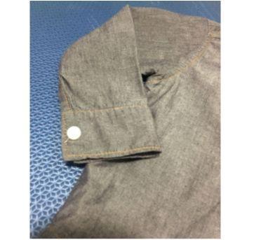 Camisa grafite - 9 a 12 meses - Onda Marinha