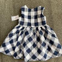 Vestido azul xadrez para bebês meninas NOVO - 12 a 18 meses - Carter`s