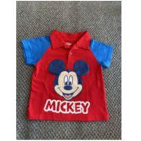 Camisa Polo Mickey Mouse - 12 a 18 meses - Disney