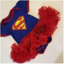 Fantasia Super Girl Carnaval - 6 a 9 meses - Sem marca