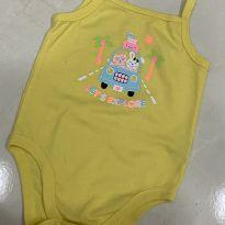 Body amarelo - 6 a 9 meses - Garanimals