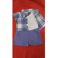 Macacão curto com camisa - 3 meses - Aconchego do Bebê