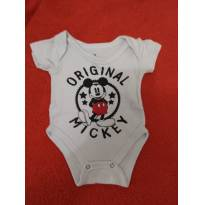 Body curto Mickey - 0 a 3 meses - Disney baby