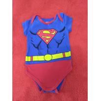 Body curto  super homem - 3 a 6 meses - Marlan