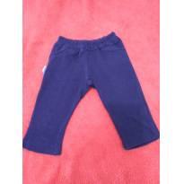 Calça algodão azul marinho - 3 a 6 meses - Aconchego do Bebê