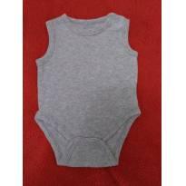 Body cinza regata - 0 a 3 meses - Boulevard Baby