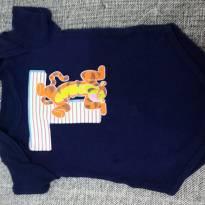 Body curto Tigrão azul marinho - 3 a 6 meses - Disney