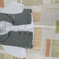 Camisa social com colete. - 3 a 6 meses - Aconchego do Bebê