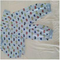 Pijama azul super Powers - 9 a 12 meses - Tampinha