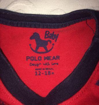 Duo de camisa - 9 a 12 meses - Ralph Lauren e Polo wear