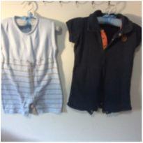 Duo de romper - 3 a 6 meses - Aaran Baby e Polo wear